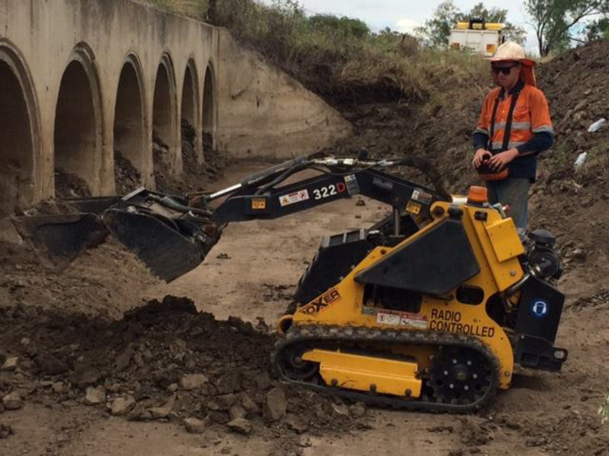 Pipe Inspection with RC excavator
