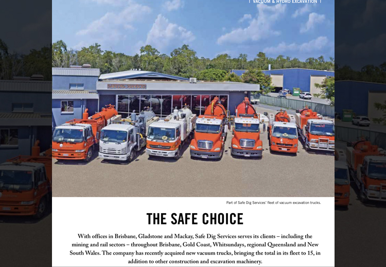 safedig vacuum truck fleet